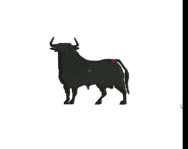 bordado logo silueta de toro