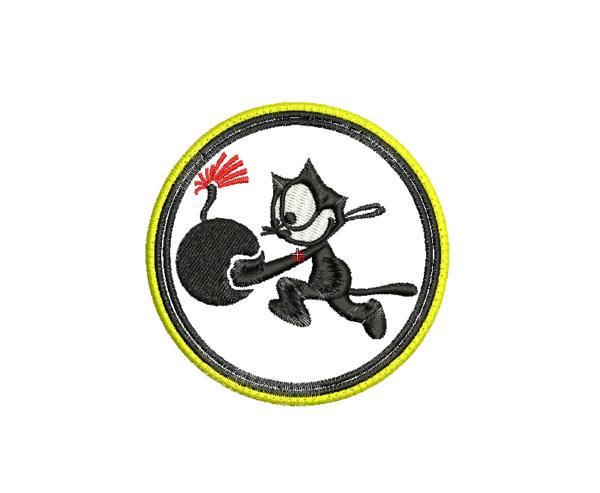 bordado gato felix