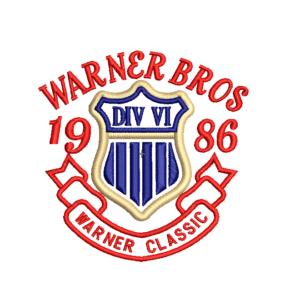 bordado logo warner 1986